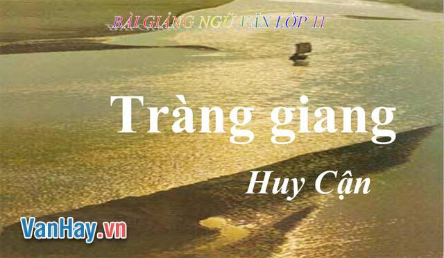 Văn phân tích: Tràng Giang