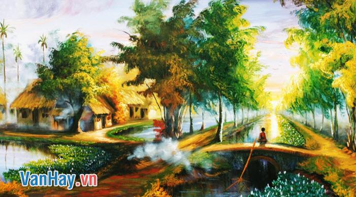 Khung cảnh thôn Vĩ Dạ được thể hiện qua bài thơ Đây thôn Vĩ Dạ của Hàn Mặc Tử